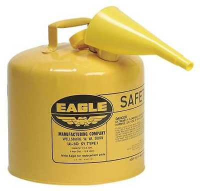 EAGLE UI-50-FSY Type I Safety Can, 5 gal, Yellow