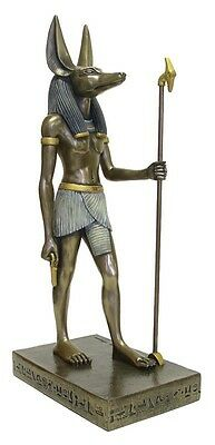 Anubis Egyptian Jackal God of the Dead Bronze Finish Statue Large #1238