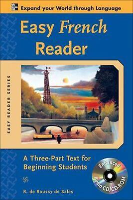 Easy French Reader: A Three-Part Text For Beginning Students [With CDROM] by R.
