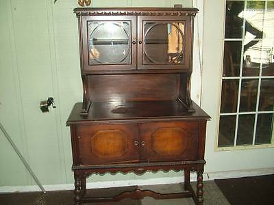 ANTIQUE KNOX HUTCHINS FURNITURE COMPANY BUFFET HUTCH CABINET SIDEBOARD