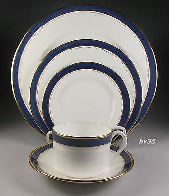 Coalport Norfolk Blue Five Piece Place Settings