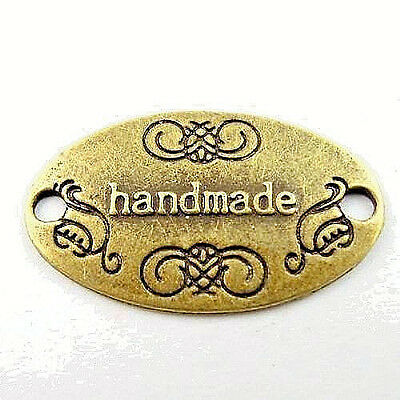"""10 Each Quality Metal """"HandMade"""" Cribbage Board Metal Tags for Custom Boards   a"""