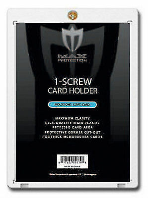 40 Max 1-Screw THICK 120pt Memorabilia / Jersey Trading Card Screwdowns holders