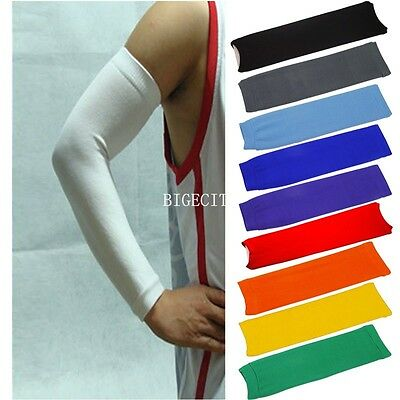 Basketball Outdoor Sport Stretch Arm Sleeve Elbow Wrist Brace Guard Pad Support