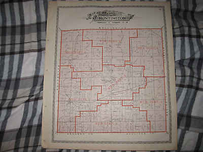 Antique 1896 Huntington Township City Lorain County Ohio Map W Land Owners Nr
