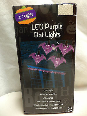 NEW- 20 Ct LED Purple Bat Light Set-Indoor/Outdoor Use