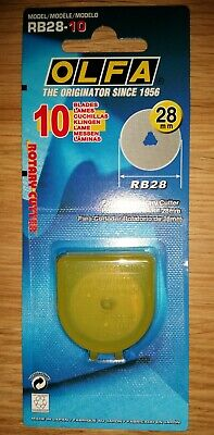 Genuine OLFA RB28 28mm Rotary Cutter 10 Spare Blades ( fits RTY-1/G & RTY-1/DX )