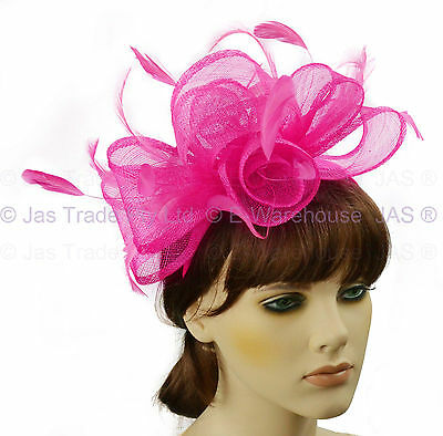 Melbourne Cup Spring Race Racing Carnival Wedding Fascinator Headband Hot Pink