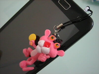 Panther Pink iFor iPhone 4 4S / 5 /Note Earphone Ear Cap Dock Dust Plug P+P