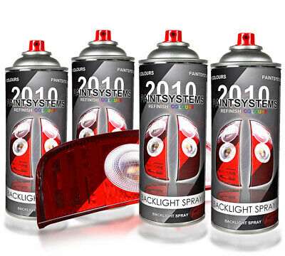 Tönungsspray Backlight schwarz transparent 4x 400ml
