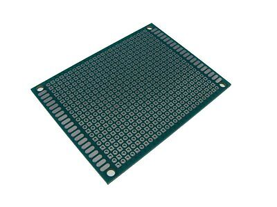 5PCS HQ 6*8cm Single Side Prototype Board Perforated 2.54mm Plated Breadboard