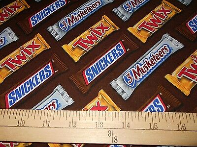 "1 Yard Mars ""Candy Bars""  Fabric"