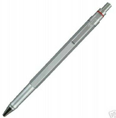Rotring 600 Silver Hexagonal Ballpoint Pen New In Box 46579