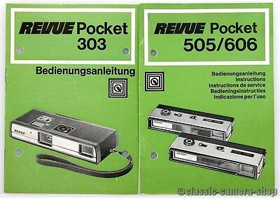 "REVUE Bedienungsanleitung "" REVUE POCKET 303 / 505 / 606 "" User Manual (X2157"