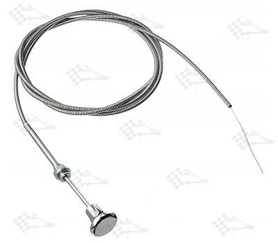 "Universal Choke Cable 72"" / 6' / 6 Ft Long - Installs in 3/8"" dia Mounting Hole"