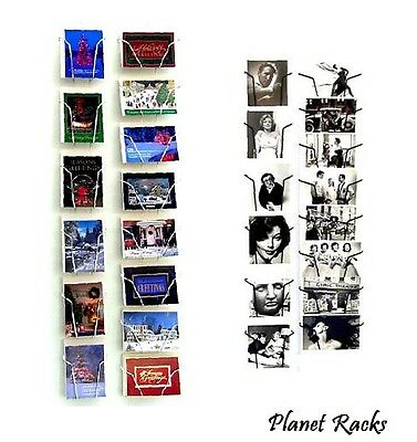 """Planet Racks 5"""" X 7"""" Greeting Card Wall Display ( 2 Sizes To Choose) Made In USA"""