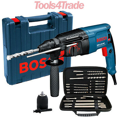Bosch GBH2-26DRE SDS+ 3 Mode Rotary Hammer Drill 110V + Extra Accessories