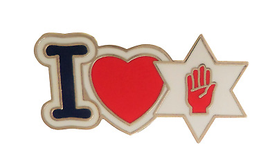 I Love Northern Ireland Ulster Horinzontal Pin Badge - K082