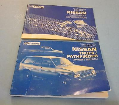 1987 Nissan Truck Pathfinder Factory Owners Manual