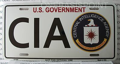 CIA Fun License Plate Aluminum Vanity Car Sign Tag Metal Novelty US Government
