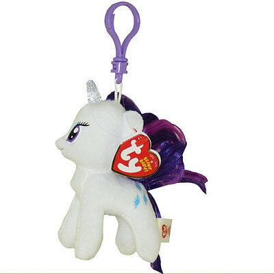 TY Beanie Baby - RARITY (My Little Pony) (Plastic Key Clip - 5 inch) -New MWMT's
