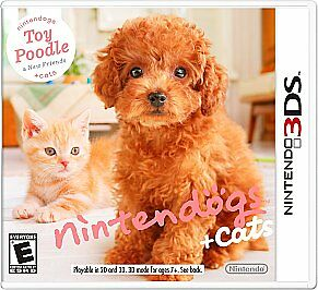 3ds Nintendogs Cats Toy Poodle (2011) - Used - Nintendo 3ds