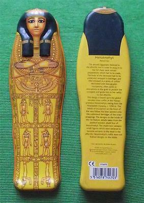Vintage Egyptian Sarcophagus Tin Box British Museum Souvenir for Archaeologist G