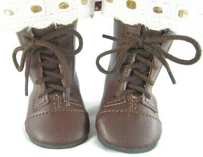 Brown 1800 Frontier Lace-Up Boots for American Girl Kirsten Doll Clothes