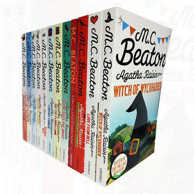 Agatha Raisin Collection M.C. Beaton 12 Books Set Day the Floods Came NEW