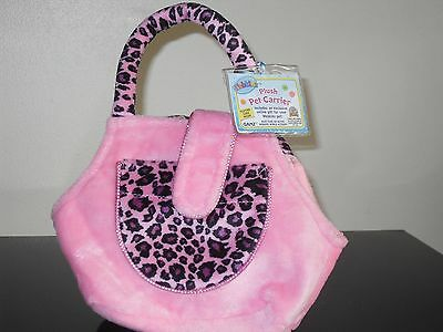 Webkinz PINK LEOPARD CARRIER * New with feature code
