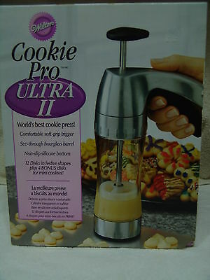 Wilton Cookie Pro 11 Press Hour Gglass Barrel Soft Grip Trigger Complete W/box