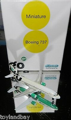 Schabak 1:600 Scale Diecast 925-211 go Airlines Boeing 737 Green Livery New