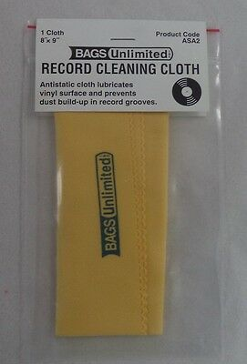 Vinyl Record Cleaning Cloth, Antistatic 8 x 9 NEW IN BAG (Cleaner)
