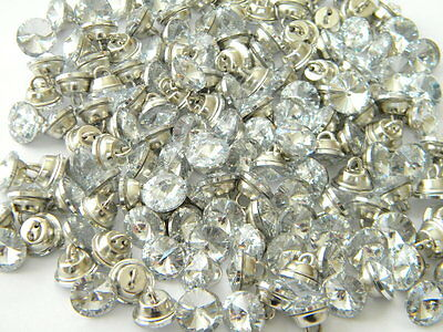 50 new Vintage antique style metal buttons rhinestone jeweled glass czech