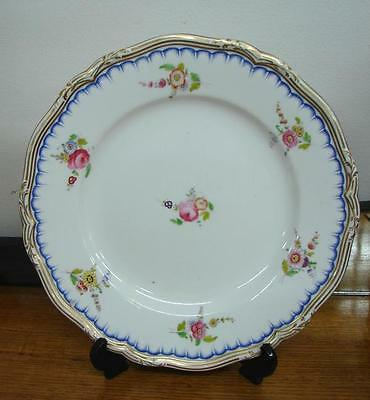 Vintage Antique Hand Painted plate with dresden flowers and old roses