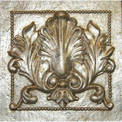 Hickory Manor Single Acanthus Tile/Gilt Silver - 7027GS