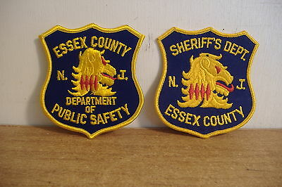 ~Essex County~Sheriff & Public Safety~New Jersey Patches~Mint~