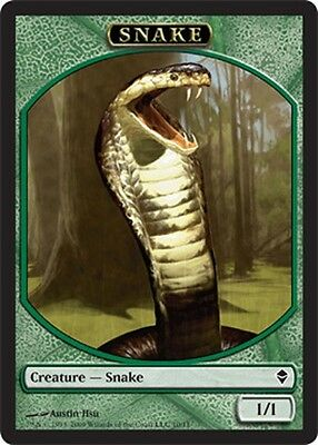 Magic The Gathering Mtg Token : Zendikar Snake Token X 50