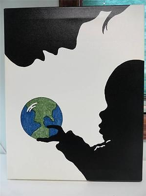 Green Frog Art Limited Edition Canvas Peter Shulman, Mother And Child with Earth
