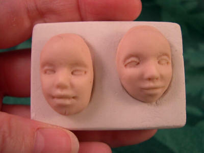 2 Fairy Face Cabochon Mold and Course - Push Mold