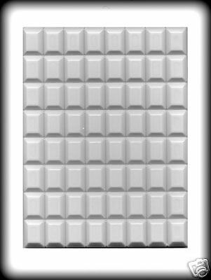 Rectangle Break-up Candies Hard Candy Mold - 64 Cavity