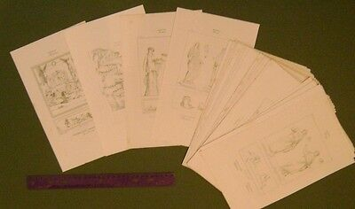 70+ ROMAN ARCHAEOLOGY ANTIQUE ART PRINTS HUGE COLLECTION Steel Engraving Prints