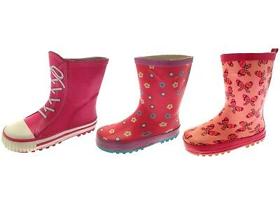 Girls Wellies Rubber Rain Snow Boots Winter Wellingtons Childrens Shoes Size