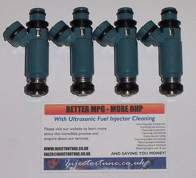 SUBARU 666cc TOP FED INJECTORS FOR IMPREZA EJ20 EJ25 2.0 2.5 WRX STI TURBO