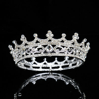 Crystal King Crown Rhinestone Wedding Pageant Prom Party Bridal Birthday Tiara