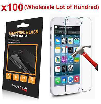 100x Wholesale Lot Tempered Glass Screen Protector for iPhone 6 PLUS Retail Box