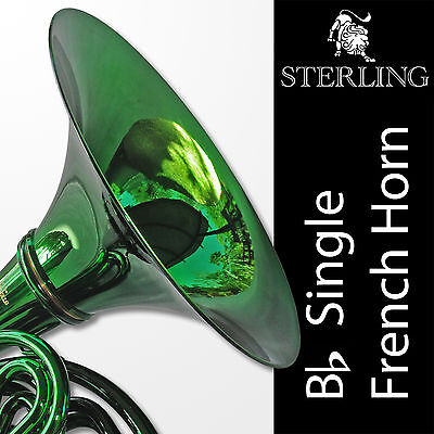 GREEN • Bb SWFH-700 Single STERLING FRENCH HORN • Pro • BRAND NEW • With Case •