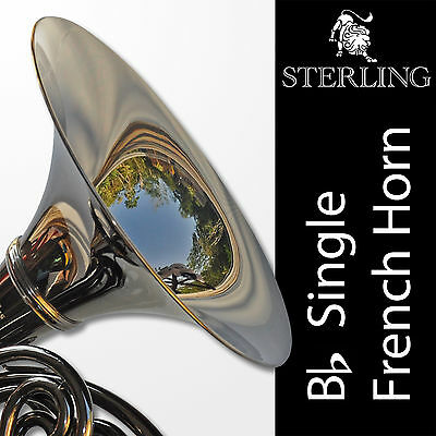 DARK NICKEL • Sterling Bb Single FRENCH HORN • Pro Quality • Brand New • Case