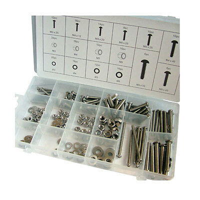 Toolzone - 224 Piece Stainless Steel Nuts And Bolts