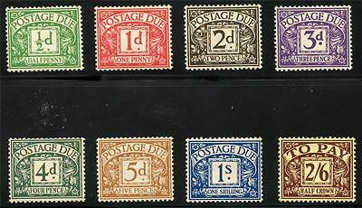 Great Britain Scott# J18-25 Sg# D19-26 Mint Hinged As Shown Ey